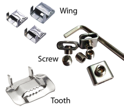 Buckles for steel banding