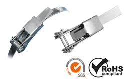Steel cable tie - universal clamping