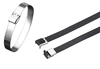 Stainless steel wing lock cable tie